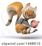 October 14th, 2017: Clipart Of A 3d Business Squirrel Holding A Piggy Bank On A White Background Royalty Free Illustration by Julos