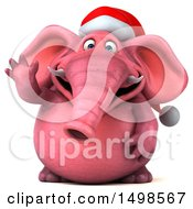 October 15th, 2017: Clipart Of A 3d Pink Christmas Elephant Waving On A White Background Royalty Free Illustration by Julos