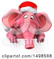 October 15th, 2017: Clipart Of A 3d Pink Christmas Elephant On A White Background Royalty Free Illustration by Julos