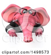 October 15th, 2017: Clipart Of A 3d Pink Business Elephant On A White Background Royalty Free Illustration by Julos