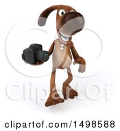 October 15th, 2017: Clipart Of A 3d Brown Chocolate Lab Dog Holding A Camera On A White Background Royalty Free Illustration by Julos