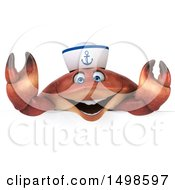 October 15th, 2017: Clipart Of A 3d Sailor Crab On A White Background Royalty Free Illustration by Julos