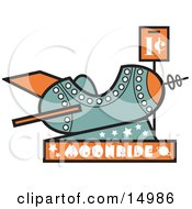 Childrens Rocket Ride To The Moon With A Coin Slot For One Cent Clipart Illustration by Andy Nortnik