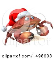 October 15th, 2017: Clipart Of A 3d Christmas Crab On A White Background Royalty Free Illustration by Julos