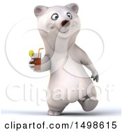 October 15th, 2017: Clipart Of A 3d Polar Bear Holding A Beverage On A White Background Royalty Free Illustration by Julos