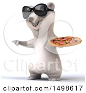 October 15th, 2017: Clipart Of A 3d Polar Bear Holding A Pizza On A White Background Royalty Free Illustration by Julos