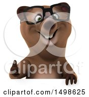 3d Brown Bear On A White Background