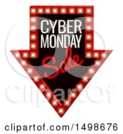 Clipart Of A 3d Marquee Sign With Cyber Monday Sale Tedt Royalty Free Vector Illustration by AtStockIllustration