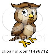 Clipart Of A Cartoon Owl Mascot Royalty Free Vector Illustration by AtStockIllustration