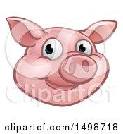 Happy Pig Mascot Face