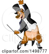 Clipart Of A Tap Dancing Bear Royalty Free Vector Illustration