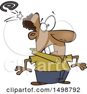 Poster, Art Print Of Cartoon African American Man Being Whacked With An Email Symbol