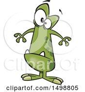 Poster, Art Print Of Cartoon Puny Green Monster
