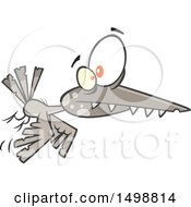 Clipart Of A Cartoon Flying Zombie Bird Royalty Free Vector Illustration by toonaday