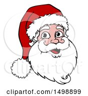 Clipart Of A Cartoon Christmas Santa Claus Face Royalty Free Vector Illustration by AtStockIllustration