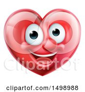 Clipart Of A Happy Red Love Heart Mascot Royalty Free Vector Illustration
