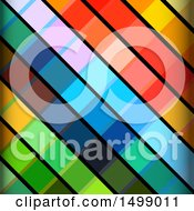 Background Of Diagonal Multi Colored Stripes
