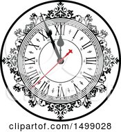 Clipart Of A Clock Face Royalty Free Vector Illustration