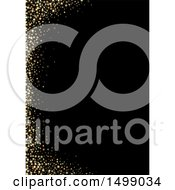 Clipart Of A Golden Star Border Over Black Royalty Free Vector Illustration by dero