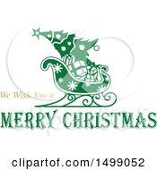 Christmas Greeting Design With A Sleigh