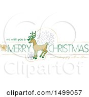 Christmas Greeting Design With A Reindeer