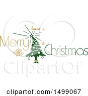 Christmas Greeting Design With A Tree