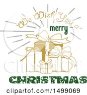 We Wish You A Merry Christmas Greeting