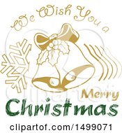 Christmas Greeting Design With Bells