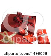 3d Red Christmas Gifts