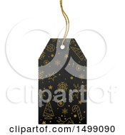 Clipart Of A Christmas Sales Tag Royalty Free Vector Illustration