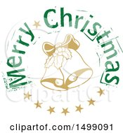Clipart Of A Christmas Greeting Design With Bells Royalty Free Vector Illustration by dero
