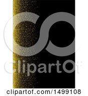 Black Background With Gold Glitter And Text Space