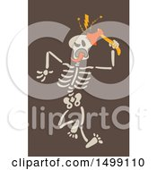 Halloween Skeleton Cracking His Skull With An Axe