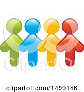 Clipart Of A Group Of Colorful Arrow People Royalty Free Vector Illustration