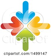 Clipart Of A Design Of Colorful Arrows Royalty Free Vector Illustration by Lal Perera