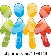 Clipart Of A Group Of Colorful Arrow People Royalty Free Vector Illustration by Lal Perera