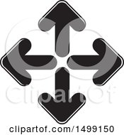 Clipart Of A Diamond Formed Of Black And White Arrows Royalty Free Vector Illustration by Lal Perera