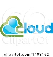 Clipart Of A Green And Blue Cloud And Text Design Royalty Free Vector Illustration by Lal Perera