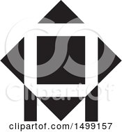 Black And White Abstract Icon With Letter A
