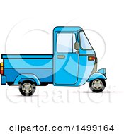 Clipart Of A Blue Three Wheeler Rickshaw Vehicle Royalty Free Vector Illustration by Lal Perera