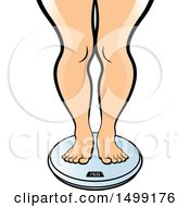 Clipart Of A Weight Scale With Chubby Female Legs Royalty Free Vector Illustration by Lal Perera