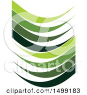 Clipart Of A Design Of Green Wave Swooshes Royalty Free Vector Illustration by Lal Perera