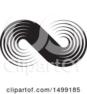 Clipart Of A Black And White Infinity Design Royalty Free Vector Illustration