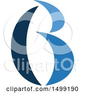 Clipart Of An Abstract Letter B Logo Royalty Free Vector Illustration