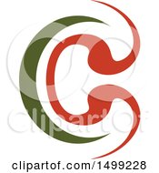 Clipart Of An Abstract Letter C Logo Royalty Free Vector Illustration