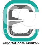 Clipart Of An Abstract Letter E Logo Royalty Free Vector Illustration