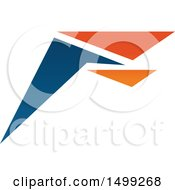 Clipart Of An Abstract Letter F Logo Royalty Free Vector Illustration
