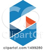 Clipart Of An Abstract Letter G Logo Royalty Free Vector Illustration