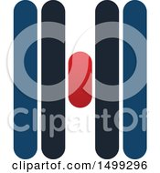 Clipart Of An Abstract Letter H Logo Royalty Free Vector Illustration
