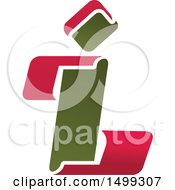 Clipart Of An Abstract Letter I Logo Royalty Free Vector Illustration